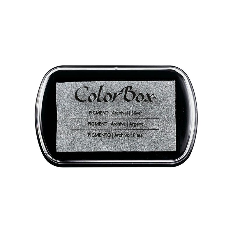 Tampón para sellos Colorbox en color plata. Premium.