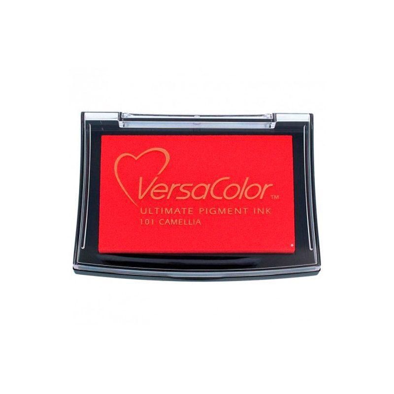 Tampón para sellos Versacolor en color rojo camellia