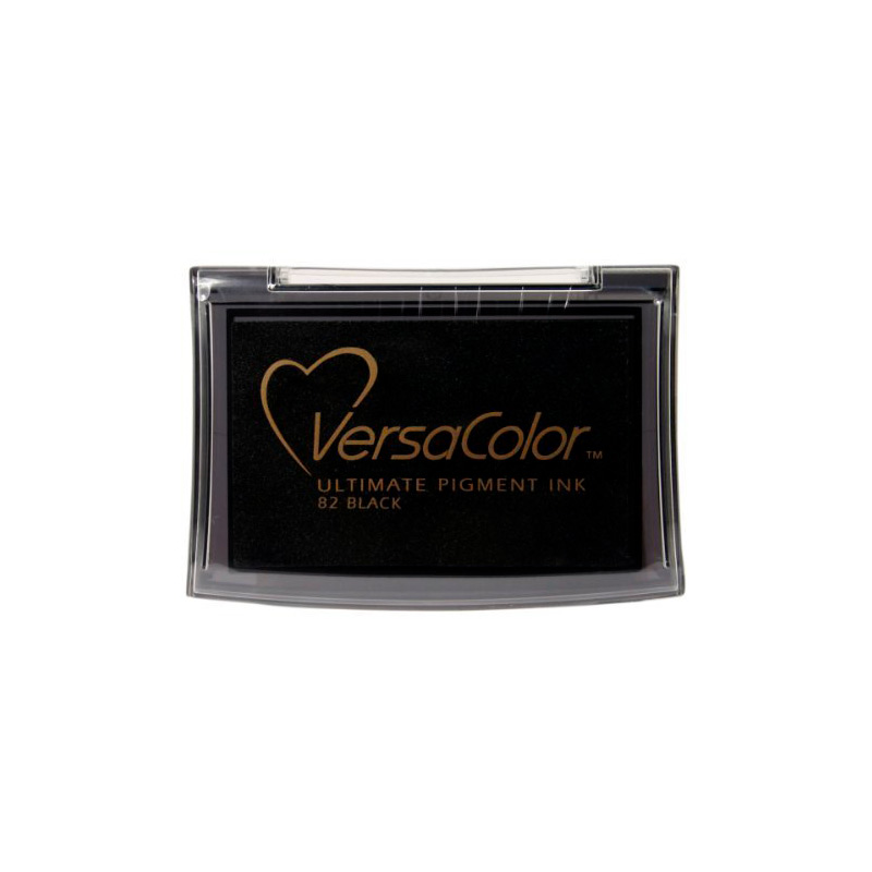 Tampón para sellos Versacolor en color negro pinecone.