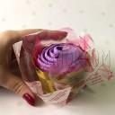 toalla en forma de rosa