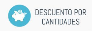 Consigue descuentos por cantidad en todas tus compras.