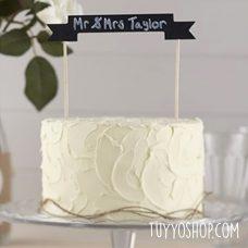 Topper para tarta Pizarra