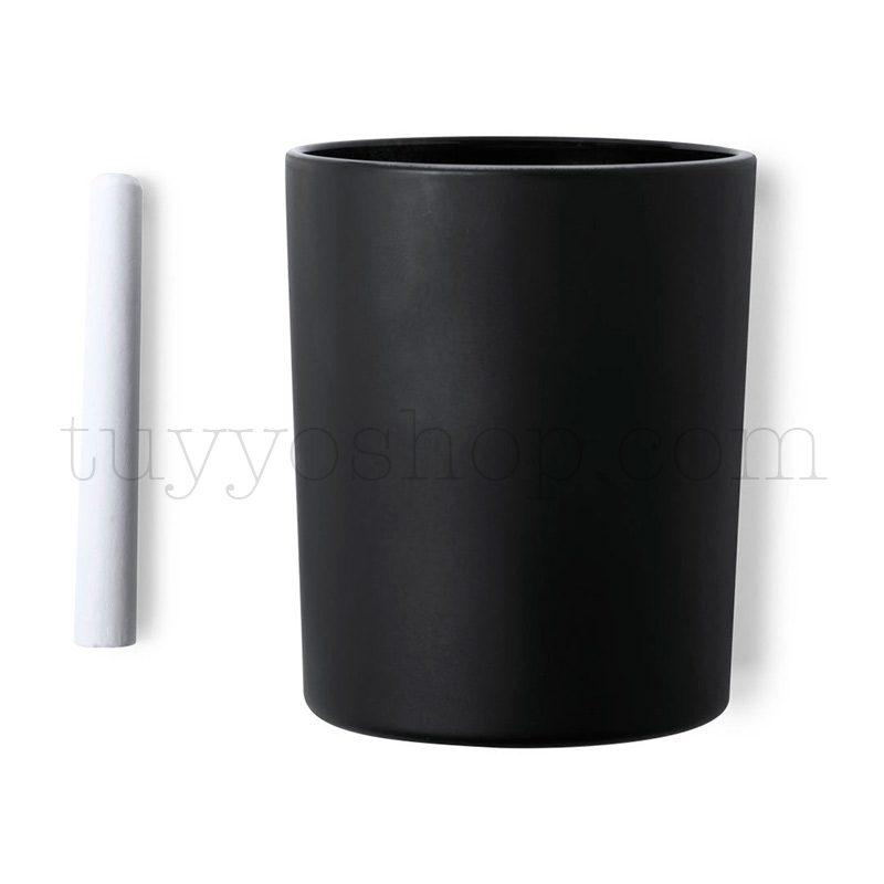 Original vela en tarro de pizarra, aroma vainilla, 7,8cm, incluye tiza vela aromatica para regalo pizarra 2