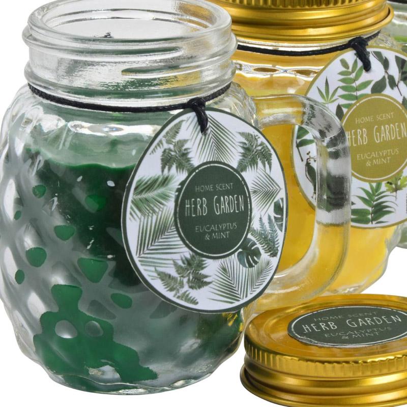 Vela en jarra de cristal. Perfumada. Garden. 3 modelos.