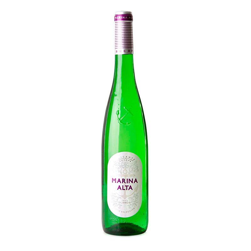 Vino blanco Marina Alta. 37,5cl. Formato especial para bodas.
