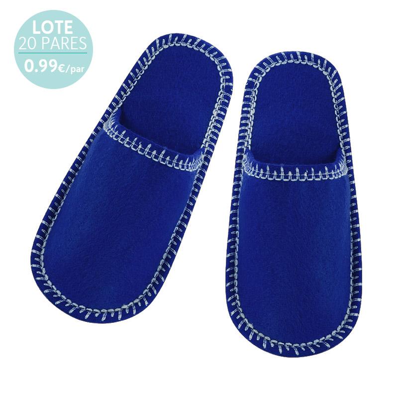Zapatillas para boda. Pespunte. Azules. 0.99€/par
