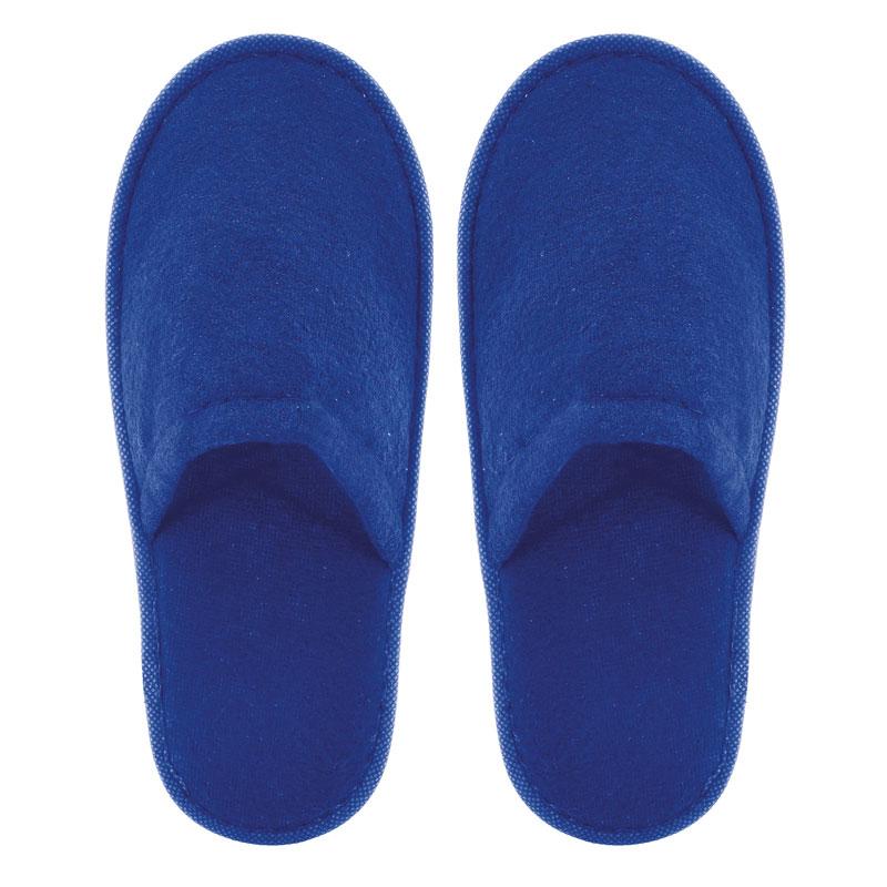 Zapatilla de rizo para boda. Color azul electrico. Lote 20 pares. 1.15€/par