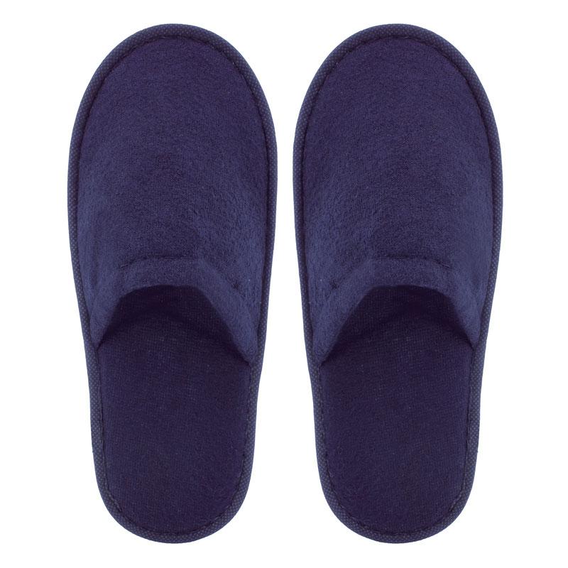 Zapatilla de rizo para boda. Color azul marino. Lote 20 pares. 1.15€/par