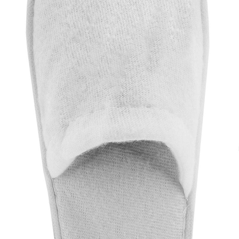 Zapatilla de rizo para boda. Color blanco. Lote 20 pares. 1.15€/par